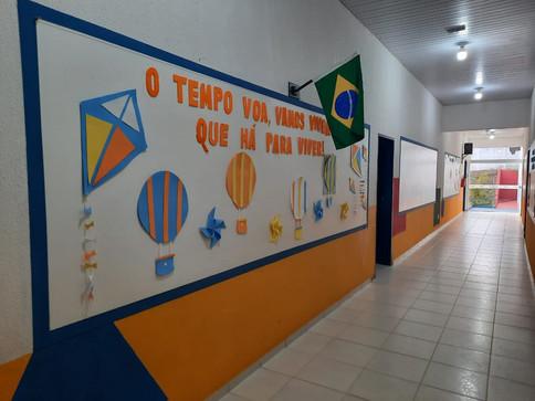 Corredor das salas de aula
