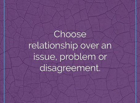 Choose relationship first!