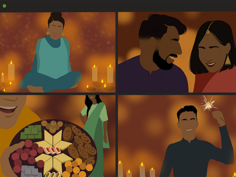 Virtual Diwali Night Party as Fun as a Real One for JSJC