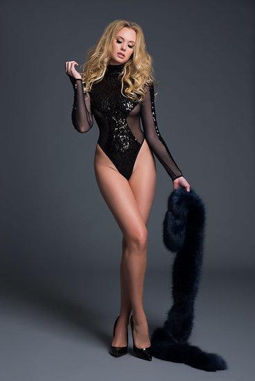 Glamorous Sequins & Sheer Body