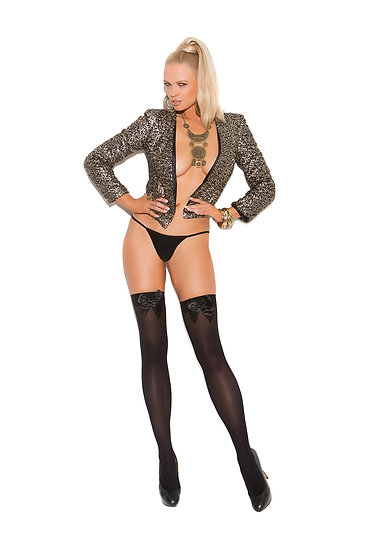 Thigh Hi with Bows Queen Size