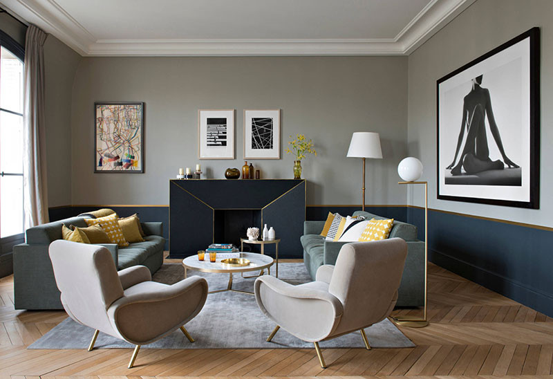 неоклассика модерн мебель камин светильник