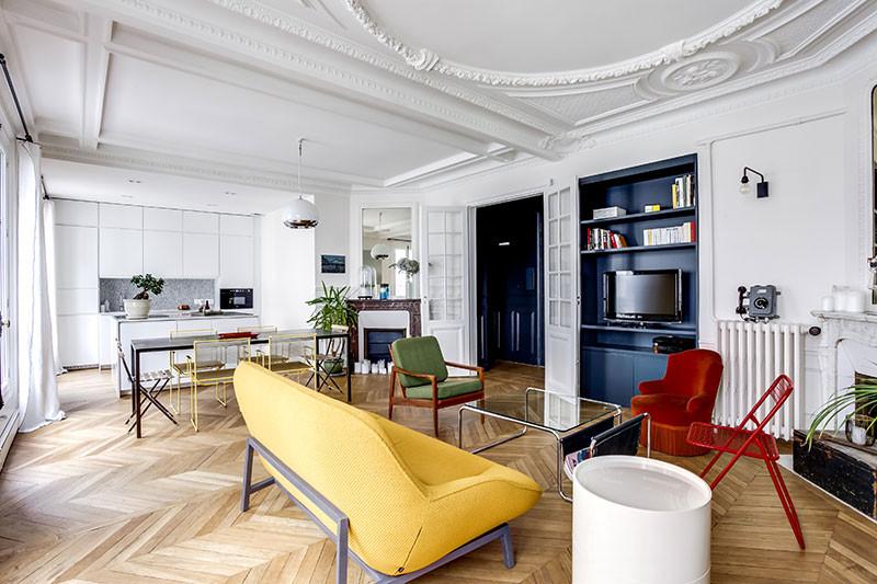 модерн дизайн цветная мебель