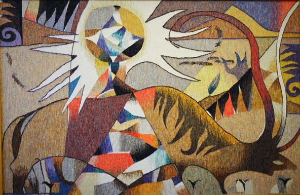 Вибрации цвета, концептуальность и философия: гобелены Малика Муканова