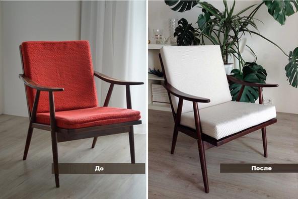 Своими руками: реставрация  ретро-кресла шестидесятых.