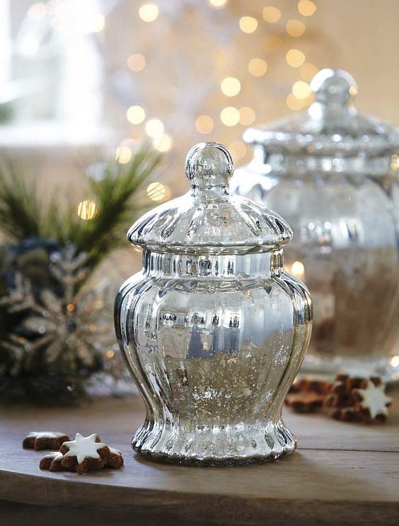 новый год серебро декор