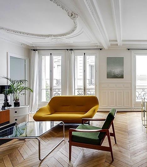 модерн дизайн желтый диван
