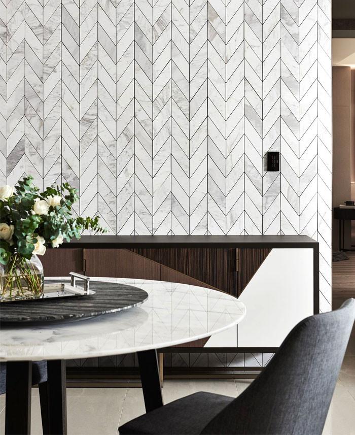 красивый интерьер мрамор стена геометрия