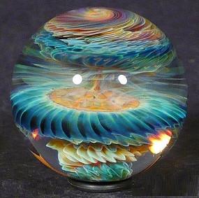 Океан и космос в стеклянном шарике. Чудеса техники лэмпворк.