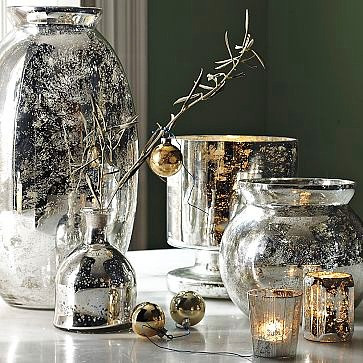 Новогодний и повседневный декор  в стиле mercury glass (ртутное стекло) своими руками.