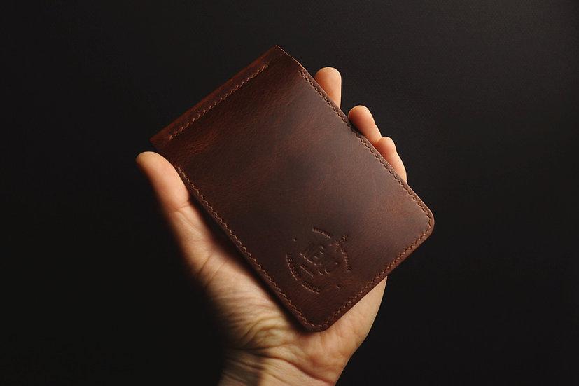CAPTAIN MONEY CLIP WALLET (COGNAC)