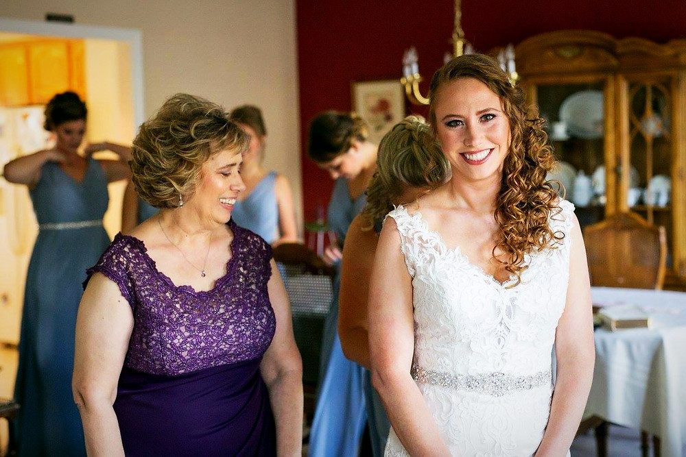 The brides Mother admiring her final look. (both makeup by me.)
