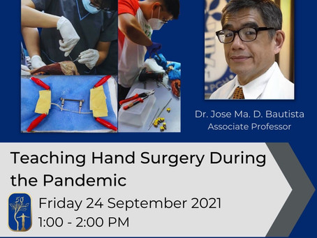 Teaching Hand Surgery During the Pandemic