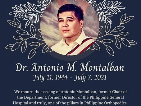 Dr. Antonio M. Montalban Memorial