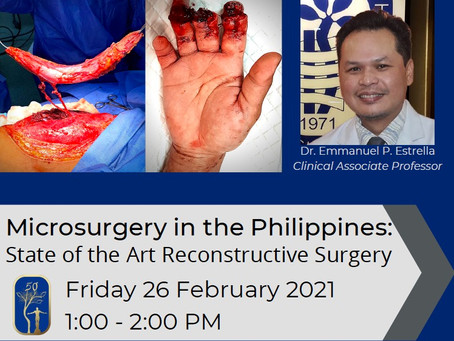 Microsurgery in the Philippines: State of the Art Reconstructive Surgery