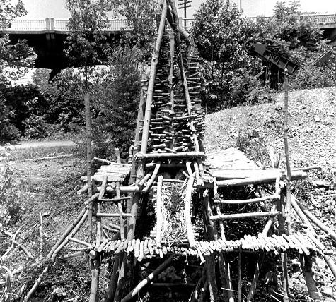 Slage Pit Platform B&W