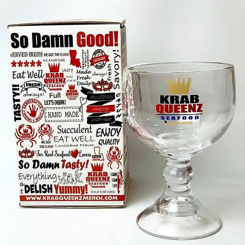 KQ LOGO SCHOONER GLASS