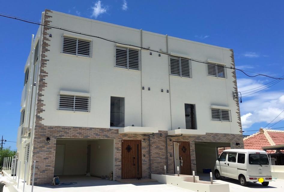 砂辺外人住宅新築塗装工事