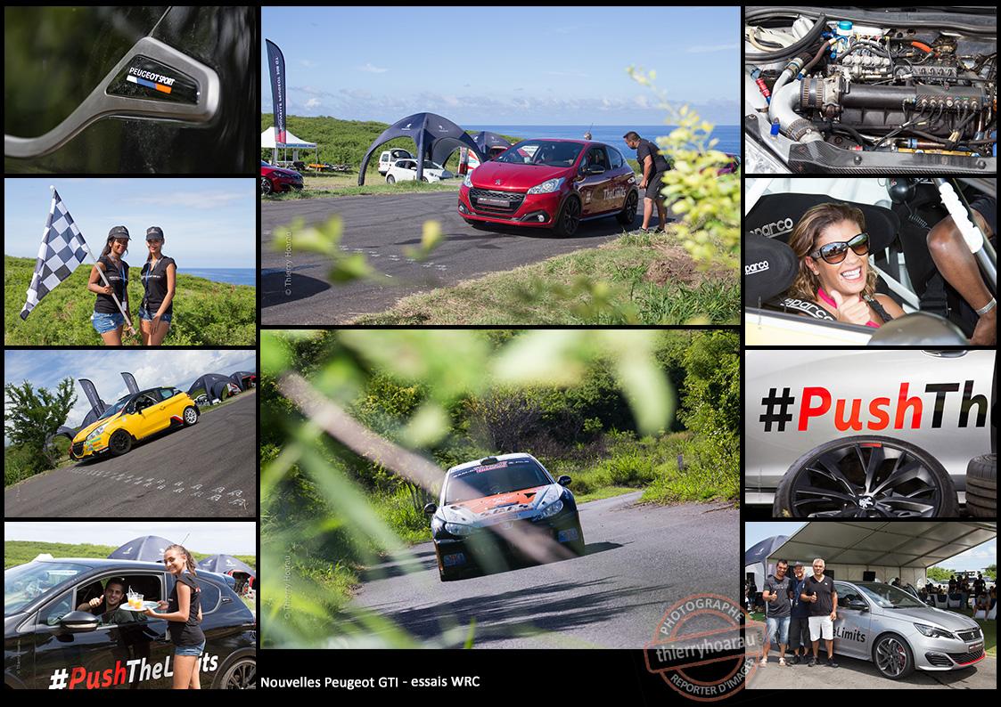 Nouvelles PEUGEOT GTI et essais WRC photos Thierry Hoarau