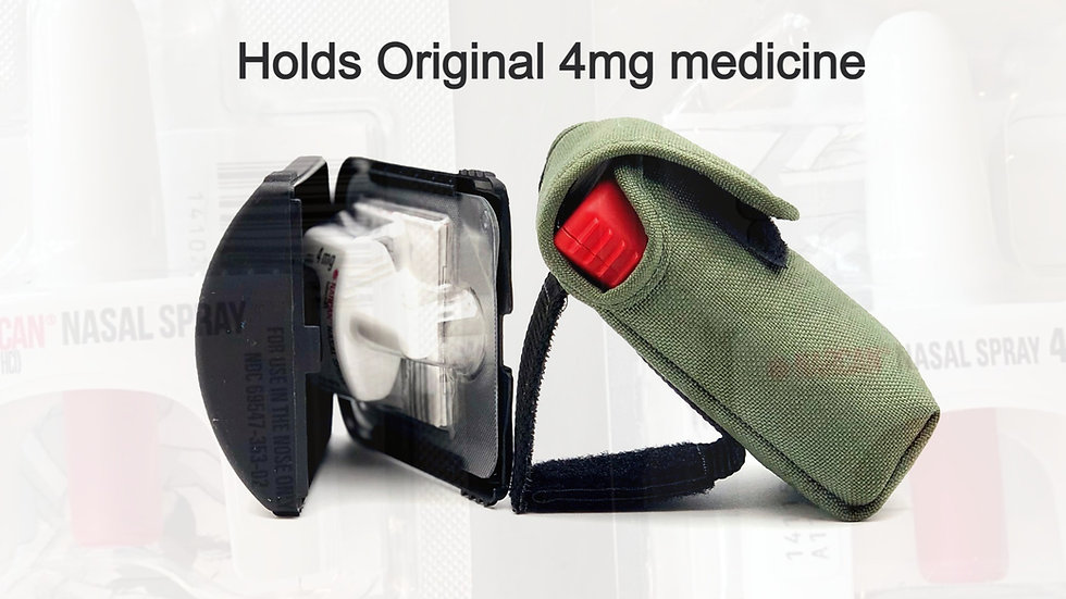 """ODkit™ V2 + Custom Nylon holster  (holds 1 dose NARCAN® nasal 3H"""" x 2W"""" x .96D"""")"""