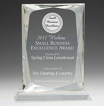 Small Business Excellence Award Recieved in 2017 by Spring Clean Laundry