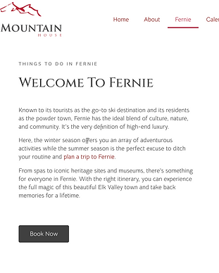 Fernie Mountain House