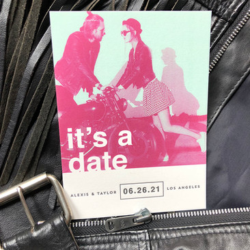 custom save the date.