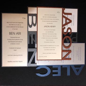 custom bar mitzvah invitations.