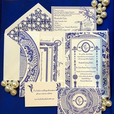 custom wedding invitation.
