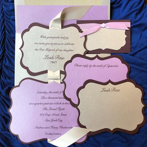 custom bat mitzvah invitation.