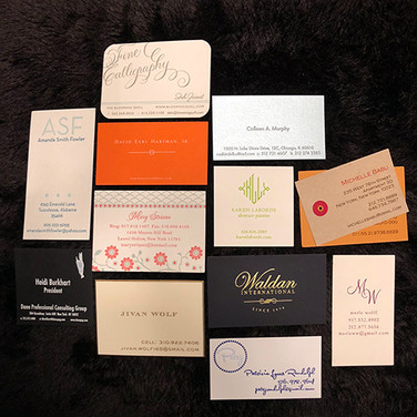custom business cards and calling cards.
