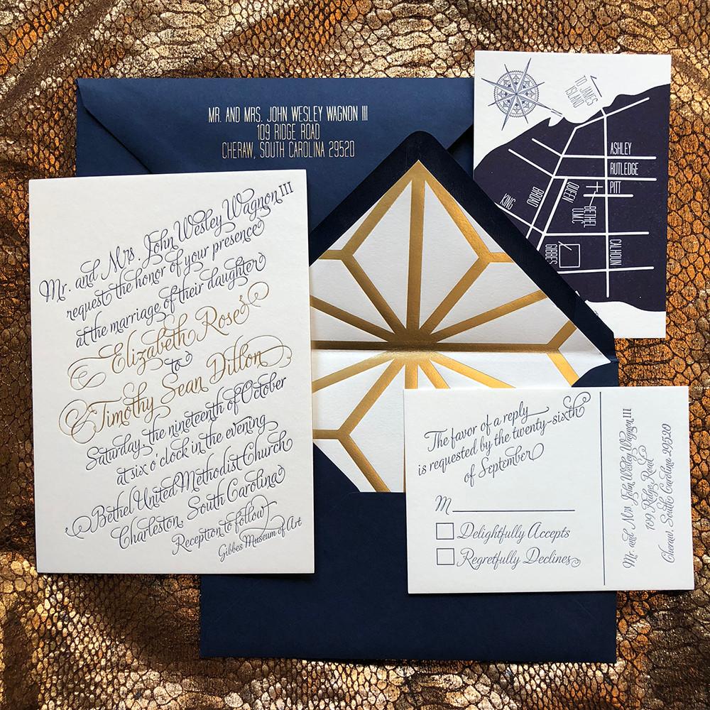 Decorative Wedding Invitation Badge 7: Custom Wedding Invitation