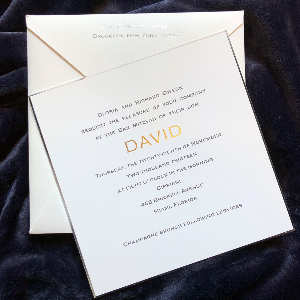 New York City\'s Best Selection of Bar Mitzvah Invitations
