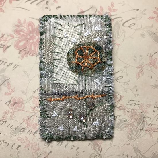 Textile Art Brooch #4