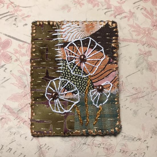 Textile Art Brooch #9