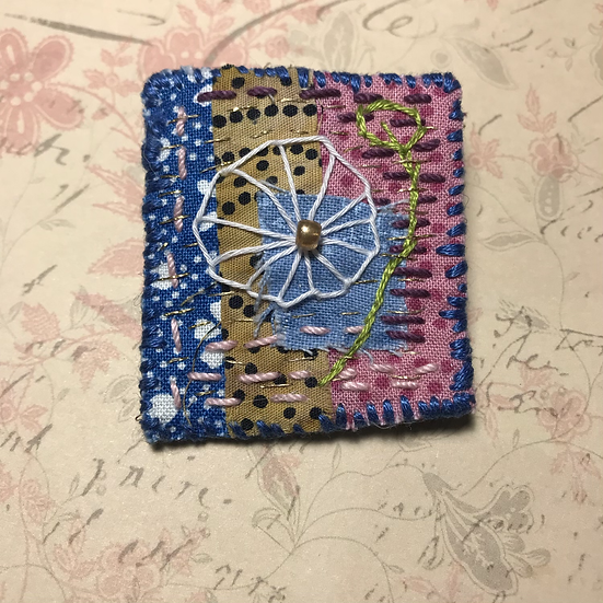 Textile Art Brooch #2