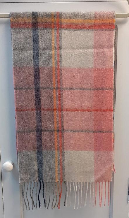 Wool Tartan Check Scarf