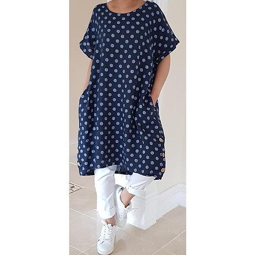 Linen Spot Dress