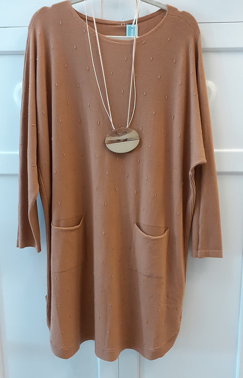 Fine Knit Tunic Jumper