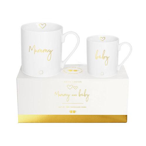 Katie Loxton Mummy & Baby Mug Set