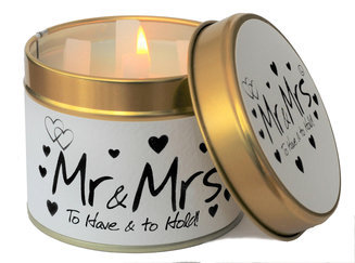 Mr & Mrs Scented Tin Candle