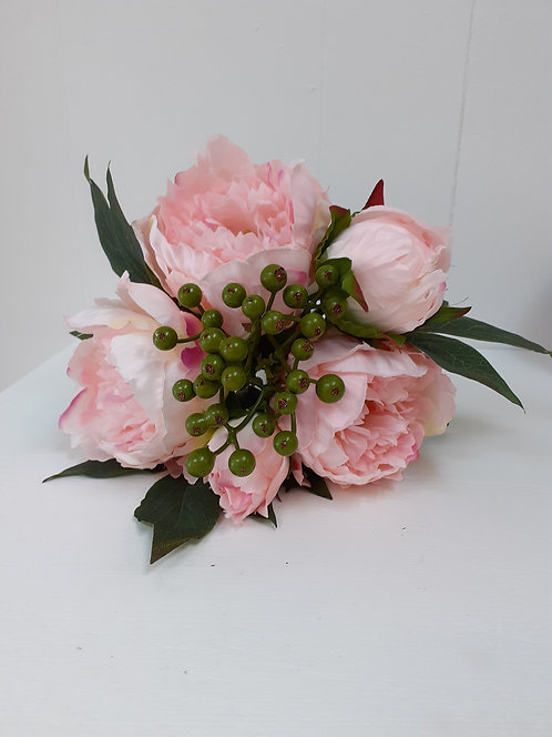 Artificial Pink Peony Rose Bunch