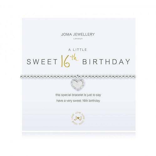 Sweet 16 Birthday Bracelet