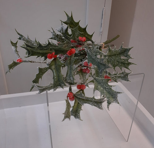 Frosted Holly Sprig