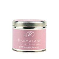 Pink Pepper & Plum Medium Tin Candle