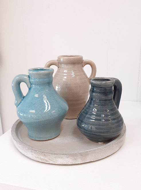 Jug Trio with Plate