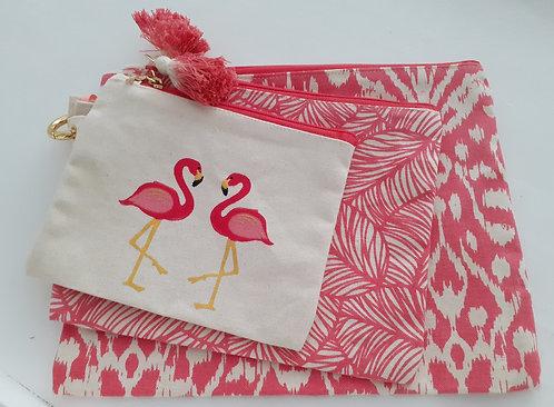Flamingo Multi Purpose Bag Trio