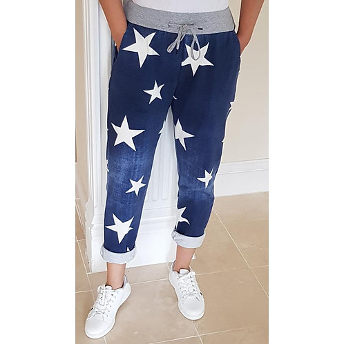 Stretch Joggers - Denim Stars