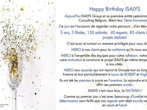 Le Groupe Isalys fête ses 5 ans !