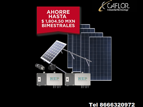 Kit Solar para Interconexión de 1.1 kW de Potencia, 220 Vca con Micro Inversores